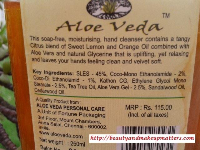 Aloe-Veda-Sweet-Lemon-Moisturising-Handwash-Claims