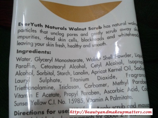 Everyuth-walnut-apricot-Scrub-Ingredients