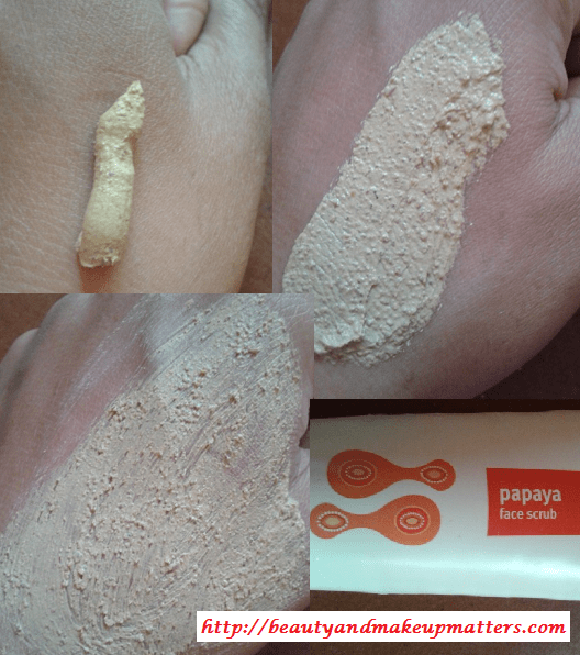 FabIndia-Papaya-Face-Scrub-Swatch