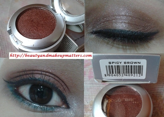 Colorbar-Spicy-Brown-Eyeshadow-Review-LOTD