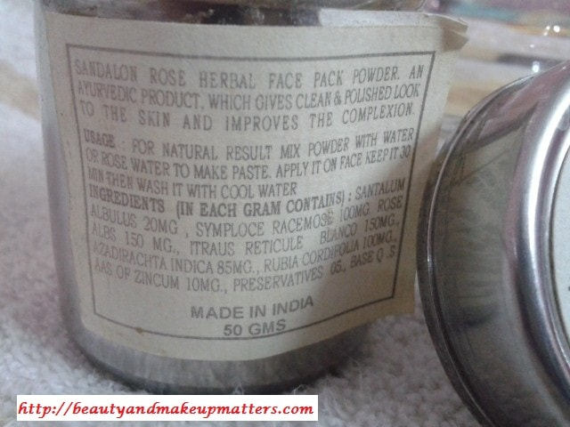 Khadi-Herbals-Sandalon-Rose-Face-Pack-Claims