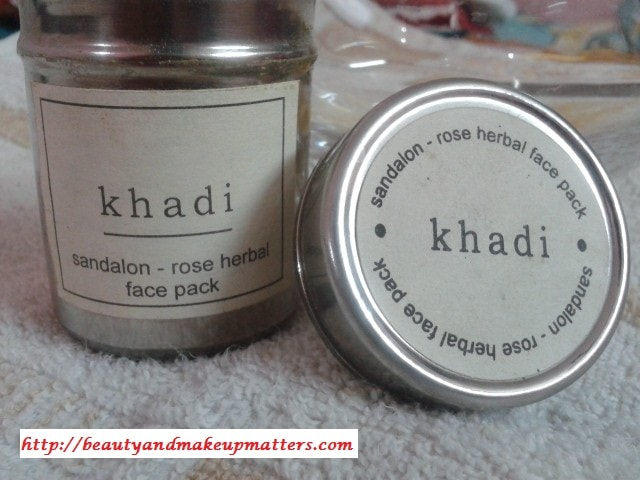 Khadi-Herbals-Sandalon-Rose-Face-Pack-Review