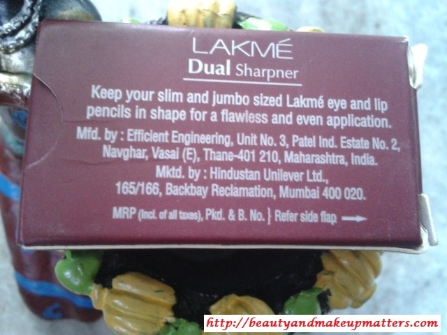Lakme-Dual-Sharpener-Claims