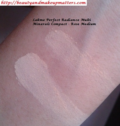 Lakme-Perfect-Radiance-Compact-Rose-Medium-Swatches