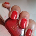 Lakme-Siren-RedTrue-Wear-Nail-Color-NOTD