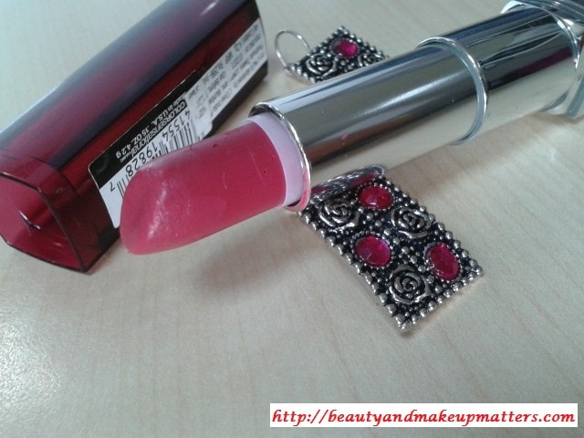 Maybelline-Color-sensational-Hooked-On-Pink-Lipstick-Review