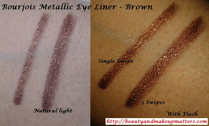 Bourjois-Regard-Effet-Metallic-Eye-Liner-Brown-Swatch