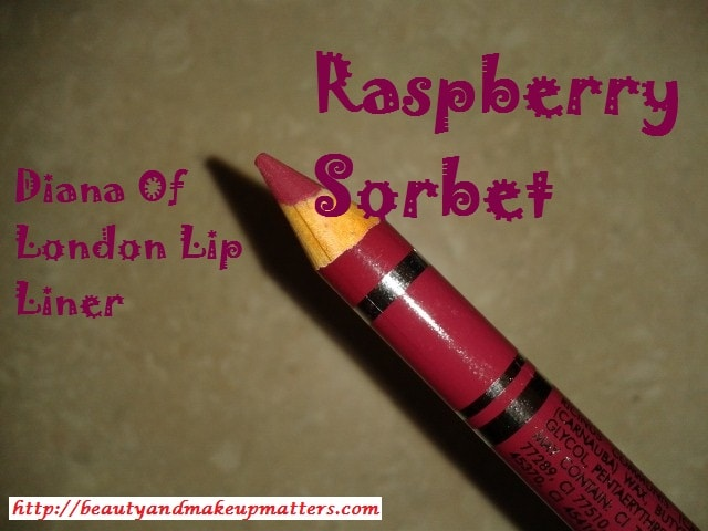 Diana-Of-London-Lip-Liner-Raspberry-Sorbet-Review
