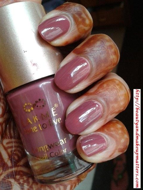 Lakme Nine To Five Nail Enamel - Lavendar Lush Review, NOTD - Beauty ...