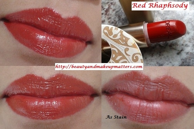 Loreal-Color-Riche-Red-Rhapshody-339-Lipstick-LOTD