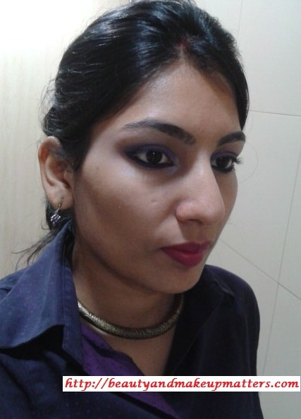 Maybelline ColorSensational-Jewels-Lipstick-Berry-Brilliant-FOTD