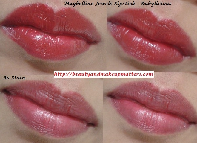 Maybelline-Jewels-Lipstick-RubyLiocious-LOTD