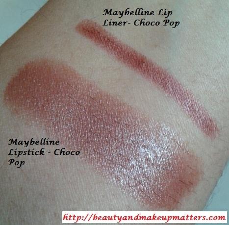 Maybelline-Lip Liner-and-Lipstick-Choco-Pop
