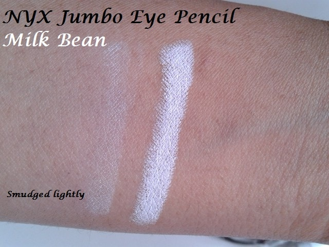 NYX-Jumbo-Eye-Pencil-Milk-Bean-Swatch-Smudged