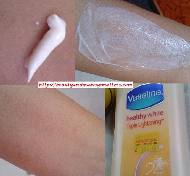 Vaseline-Healthy-White-Skin-Lightening-Body-Lotion-Swatch
