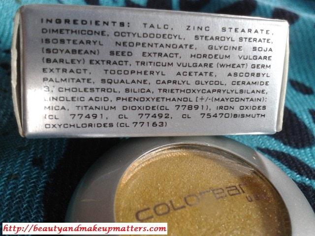 Colorbar-Eye-Shadow-Gorgeous-Gold-Ingredients