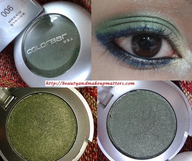 Colorbar-Single-Eye-Shadow-Green-Stroke-Look