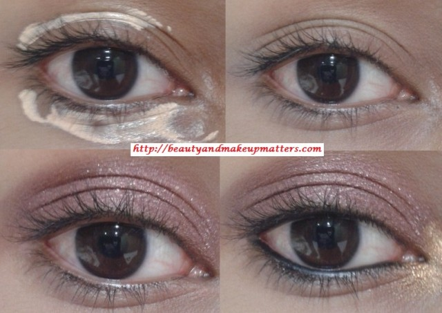 Copper-Pink-Eyes-with-Blue-Eye-Liner-Eye-Makeup-Tutorial-Look