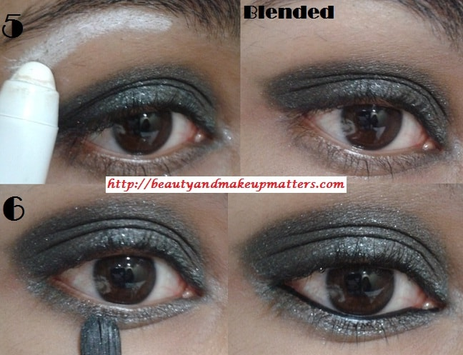Eye-Makeup-Tutorial-Greyish-Black-Shimmery-Smokey-Eyes-Look2