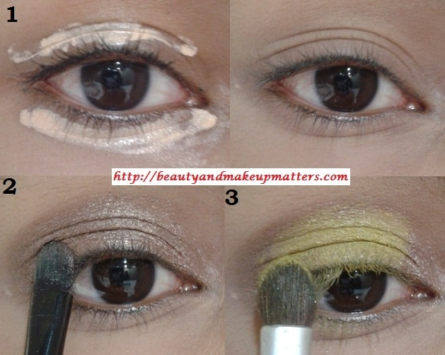 Eye-Makeup-Tutorial-Pink-and-Yellow-Eyes-Using-Inglot-EyeShadow-Look1