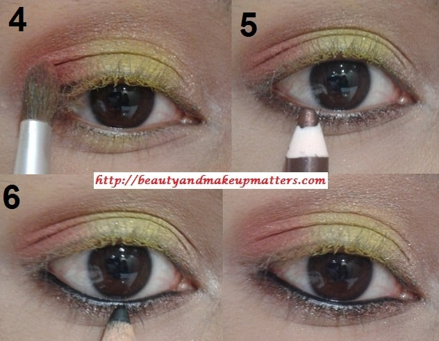 Eye-Makeup-Tutorial-Pink-and-Yellow-Eyes-Using-Inglot-EyeShadow-Look2