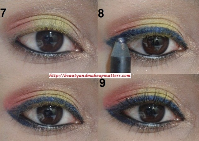 Eye-Makeup-Tutorial-Pink-and-Yellow-Eyes-Using-Inglot-EyeShadow-Look3