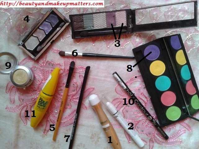 Eye-Makeup-Tutorial-Soft-Pink-and-Purple-Eyes-Products-Used
