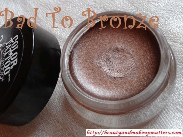 Maybelline-Color-Tattoo-Eye-shadow-Bad-To-Bronze-25-Review