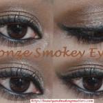 Metallic-Shimmery-Bronzy-Brown-Soft-Smokey-Eye-Makeup-Final-Look