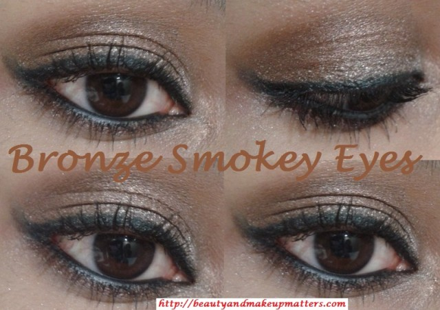 Metallic-Shimmery-Bronzy-Brown-Soft-Smokey-Eye-Makeup-Final-Look