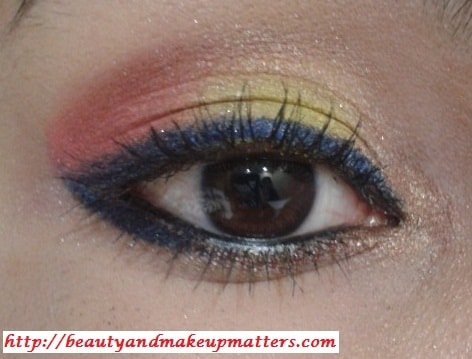 Pink-and-Yellow-Eye-Makeup-Final-Look-Using-Inglot-EyeShadow