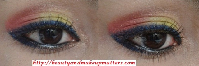 Pink-and-Yellow-Eyes-Makeup-Tutorial-Using-Inglot-EyeShadow