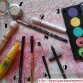 Products-Used-for-Eye-Makeup-Tutorial-Pink-and-Green-Eyes-Using-Inglot-Eyeshadow-Palette