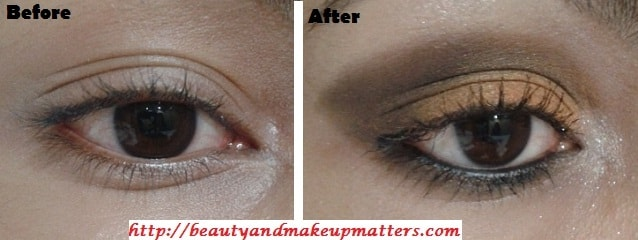 Eye-Makeup-Tutorial-Orange-brown-eyes-Before-After