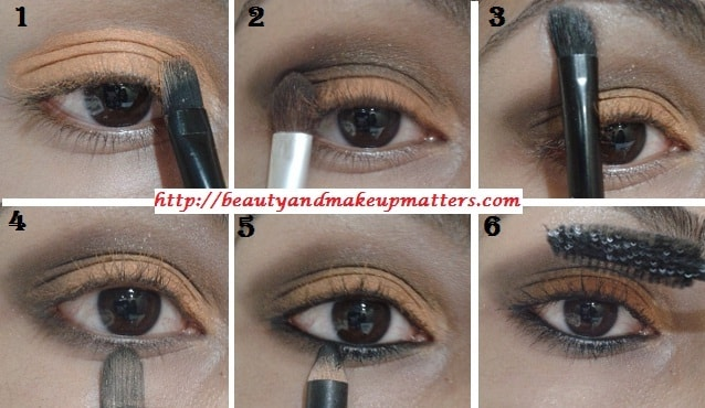 Eye-Makeup-Tutorial-Orange-brown-eyes-Step-1