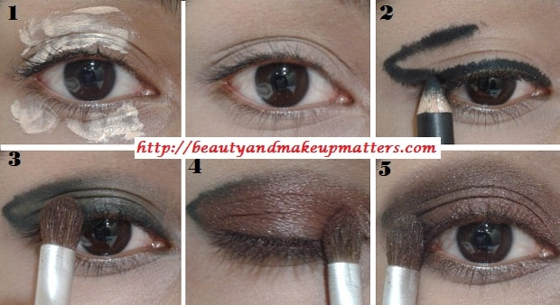 EyeMakeupTutorial-Metallic-Copper-Brown-Smokey-Eyes-Look-1