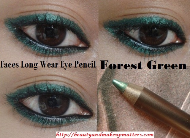 Faces-Long-Wear-Eye-Pencil-Forest-Green-EOTD