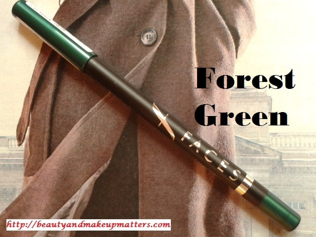 Faces-Long-Wear-Eye-Pencil-Forest-Green-Review