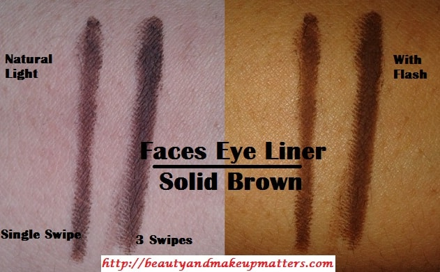 Faces-Long-Wear-Eye-Pencil-Solid-Brown-Swatch