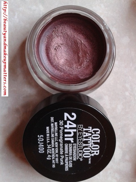 Swatch-Maybelline-Color-Tattoo-EyeShadow-Pomegranate-Punk