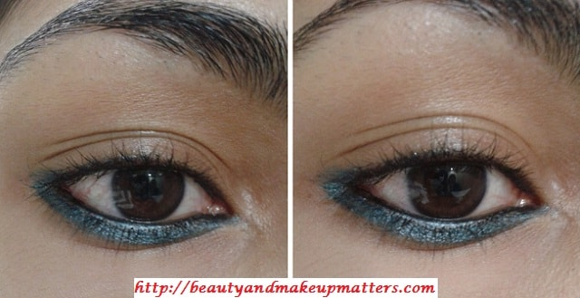 Faces-AquaBlue-EyeLiner-On-LowerLashLine-EOTD