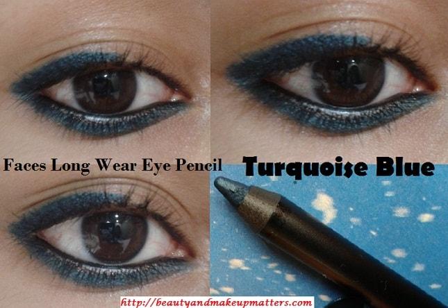 Faces-Canada-Long-Wear-Eye-Pencil-TurquoiseBlue-EOTD