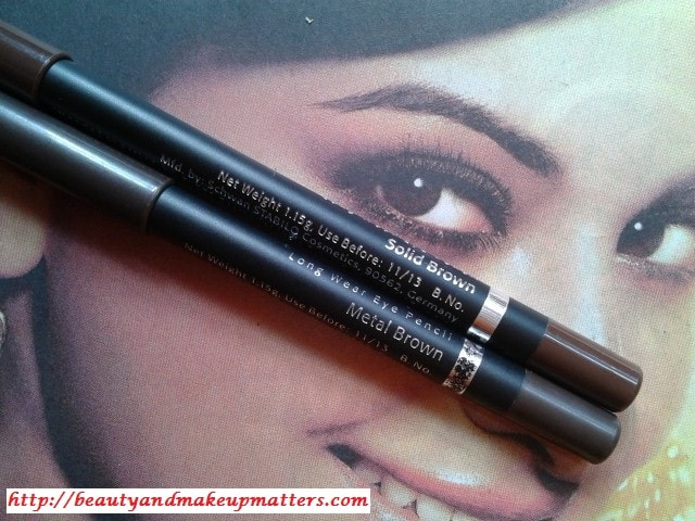Faces-Long-Wear-Eye-Pencils-Solid-and-MetalBrown-Comparison