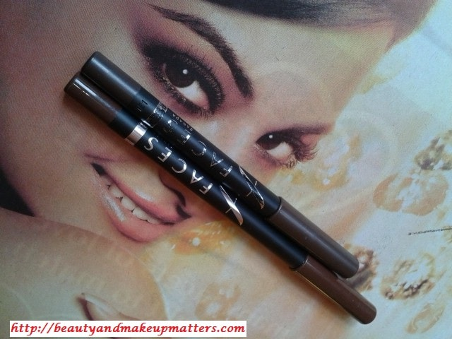 Faces-Long-Wear-Matte&Metallic-Brown-Eye-Pencil-Comparison