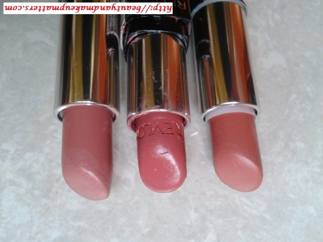 Revlon-ColorBurst-RosyNude-Maybelline-ColorSensational-MyMahogany-And-TotallyToffee-Lipstick