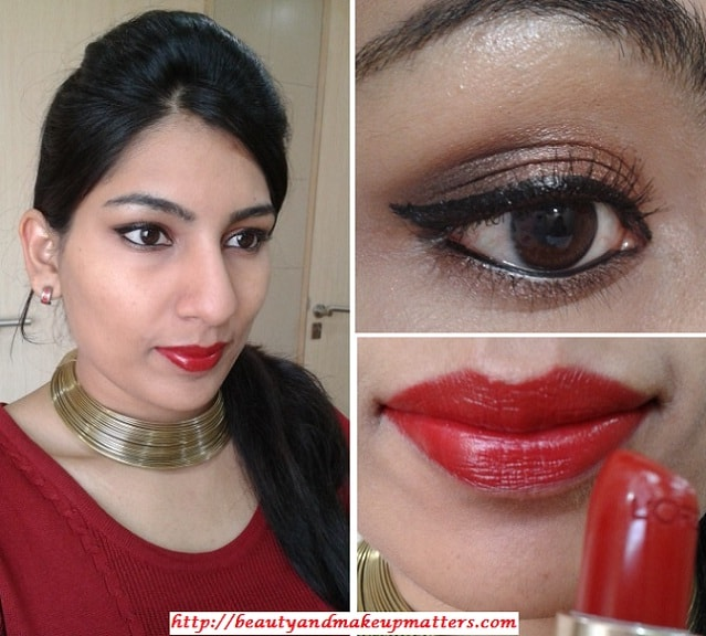 WhatAmIWearingToday-BronzeBrownEyes&RedHotLips