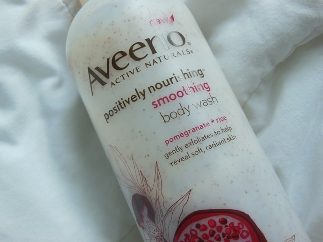 Aveeno Positively Nourishing Smoothing Body Wash with Pomegranate