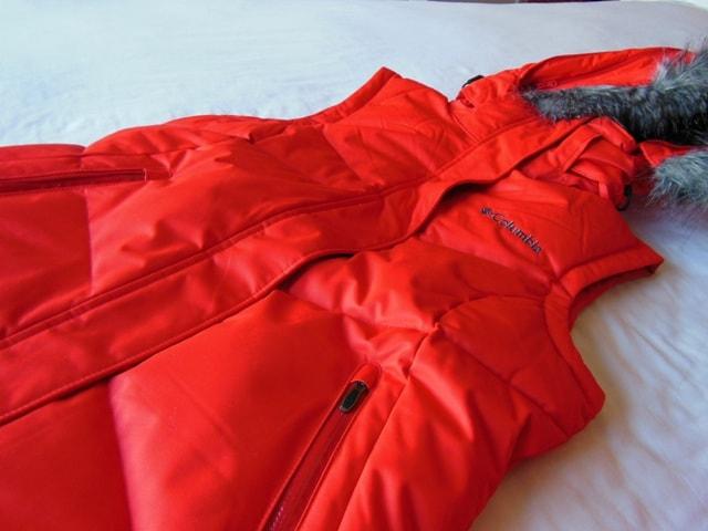 Columbia Orange Sleeveless Jacket@Albertville