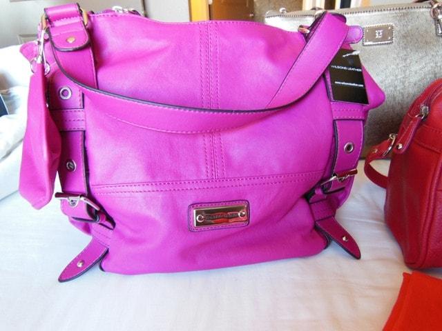 Franco Sarto Hot Pink HandBag@Wilsons Leather