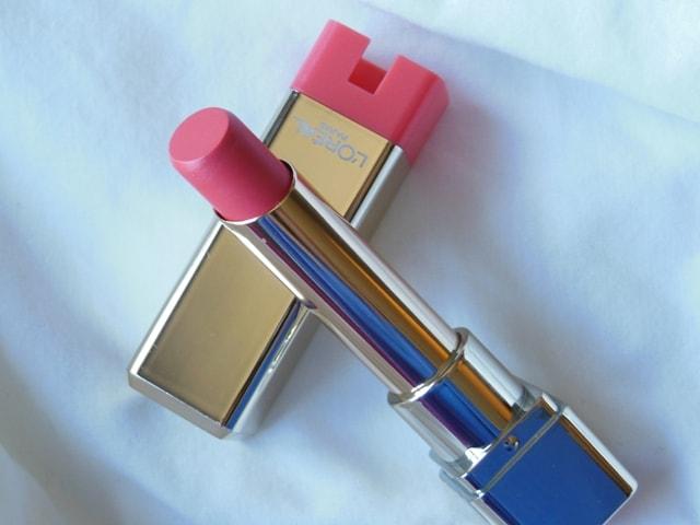L'Oreal Paris Color Riche Caresse Lipstick-Sunset Angora Review